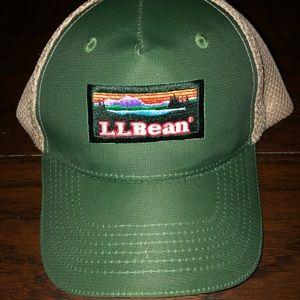 Vintage L.L. Bean Box Logo Mesh Hat Cap